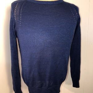 Womens sparkle blue sweater. Size: medium